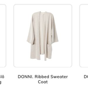 NWT Donni Ribbed Sweater Coat OS fff